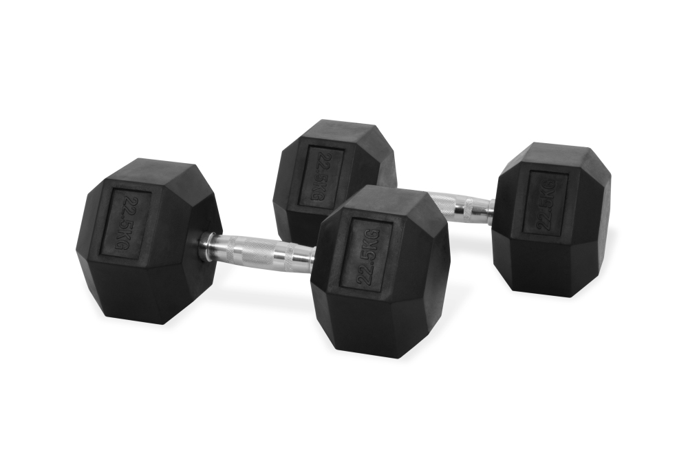 Dumbbells For Sale >> Hastings Hex Dumbbell 22 5kg Set
