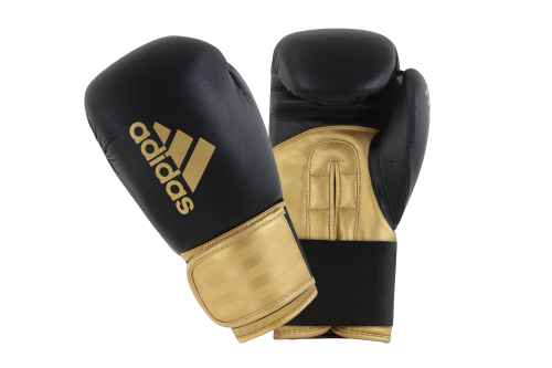 Adidas Hybrid 100 (Kick)Bokshandschoenen Zwart/Goud 12oz