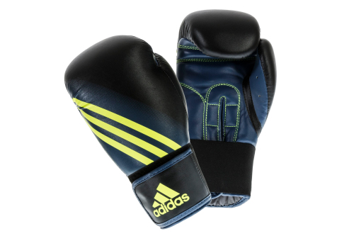 Adidas Speed 100 Bokshandschoenen Zwart/Geel 14oz