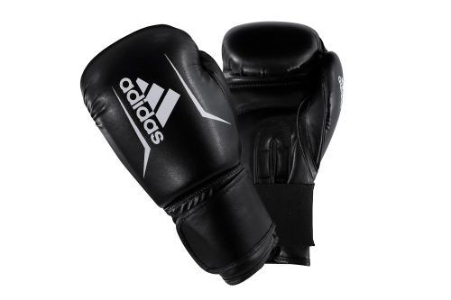Adidas Speed 50 (Kick)Bokshandschoenen Zwart/Wit 14oz