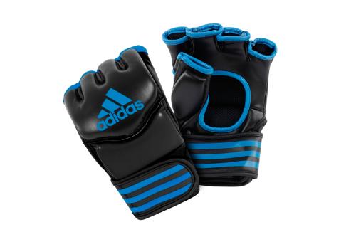 Adidas Traditional Grappling Handschoenen Zwart/Blauw Large