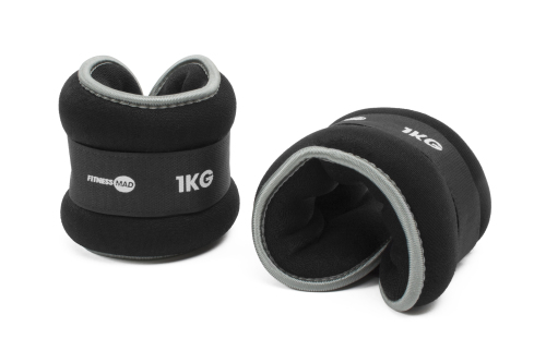 Fitness Mad Neoprene Wrist Ankle Weights 2 x 1 kg