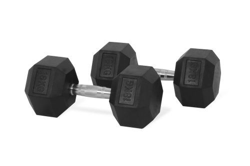 Hastings Hex Dumbbell 18 kg Set