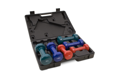 Kroon Vinyl Dumbbell set 9kg