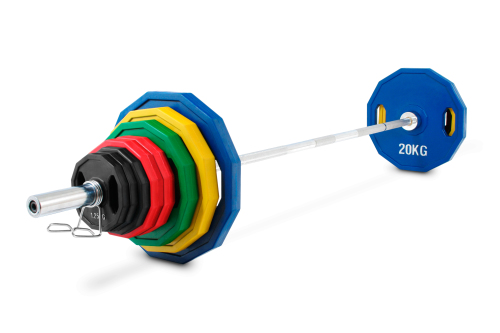 Kroon OP-140 Pro Rubber Coated Olympic Plate Set