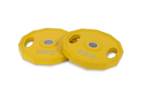 15 kg Conjunto Discos Olímpico Revestido de Boracha