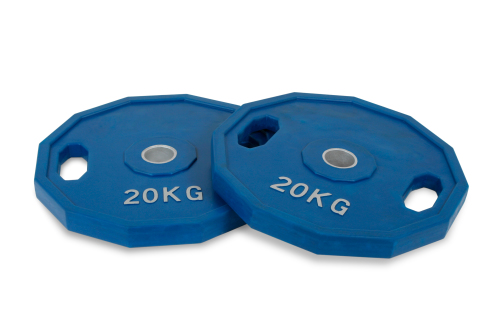 20 kg Conjunto Discos Olímpico Revestido de Boracha