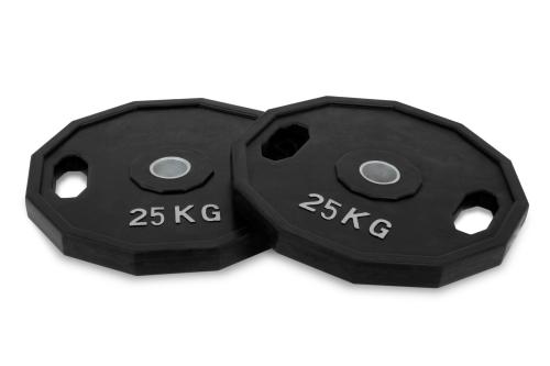 25kg Dischi di Ghisa olimpici di gomma