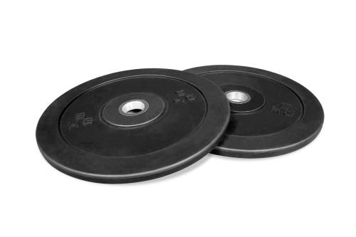 Newton Fitness Black Rubber Bumper Plates 5kg Set