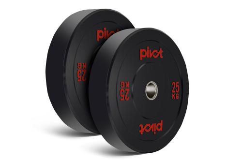 Pivot Fitness Pro Training Bumper Plates 25 kg Set