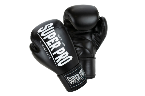 Super Pro (Thai)Bokshandschoenen Champ Zwart/Wit 12 oz