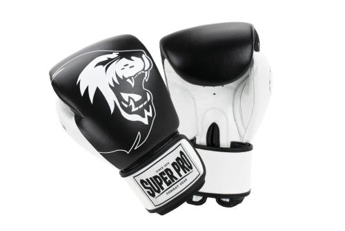 Super Pro Undisputed Bokszakhandschoenen Leder Zwart/Wit S