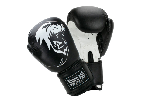 Super Pro (Thai)Bokshandschoenen Talent Zwart/Wit 4 oz