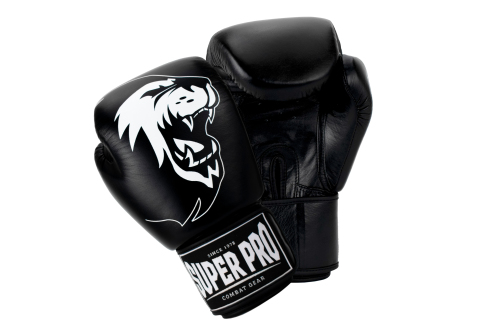 Super Pro (Thai)Bokshandschoenen Warrior Zwart/Wit 10 oz