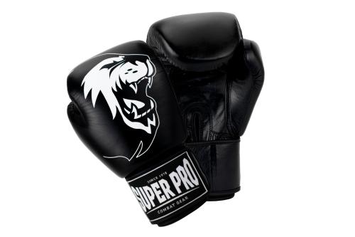 Super Pro (Thai)Bokshandschoenen Warrior Zwart/Wit 16 oz