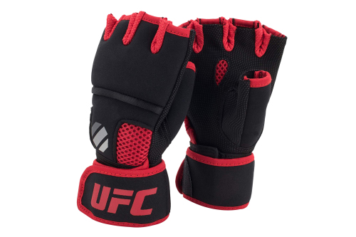 UFC Contender Quick Wrap Binnenhandschoenen Zwart/Rood S/M
